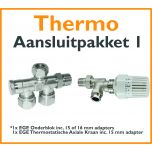 Compact 4 plus Thermostatisch aansluitpakket 1 t.b.v. 15 of 16 mm buis