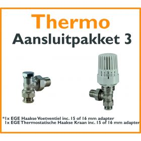 Compact 4 plus Thermostatisch aansluitpakket 3 t.b.v. 15 of 16 mm buis